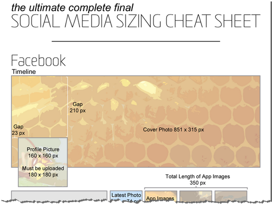 Facebook Sizing Cheat Sheet
